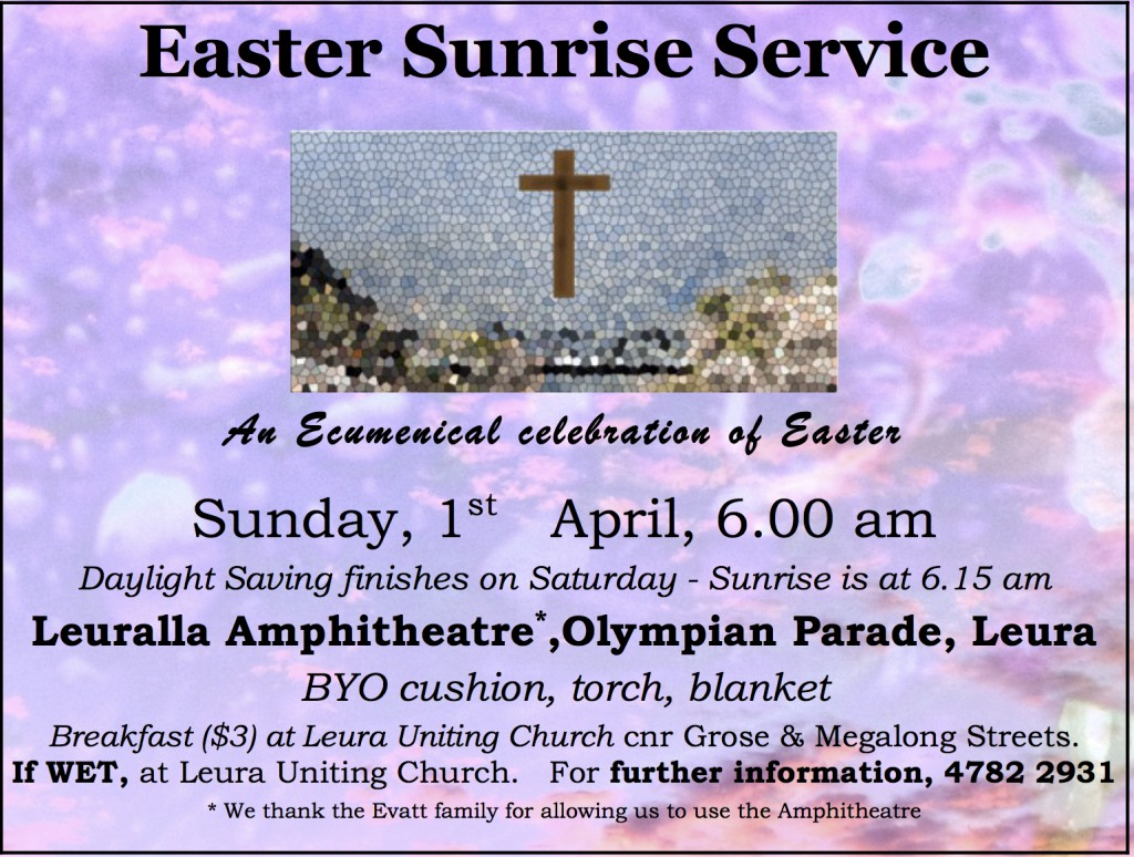Ecumenical easter day advert Gazette 2018 13Mar18
